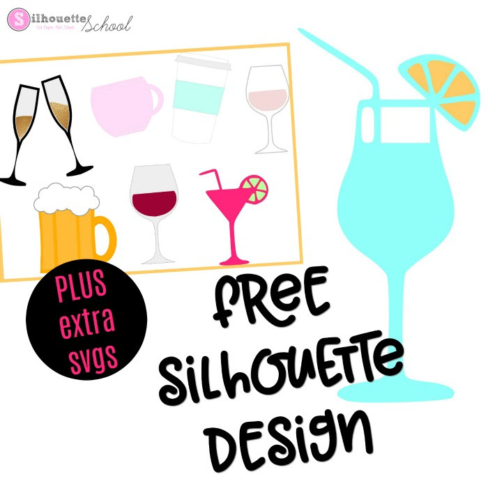 700x700 Free Silhouette Design Cocktail (And Free Set Of Commercial Use