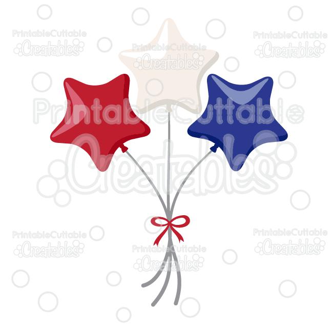 650x650 Patriotic Star Balloons Svg Cut Files