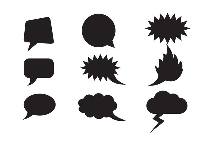 700x490 Free Speech Clouds Shapes Vector