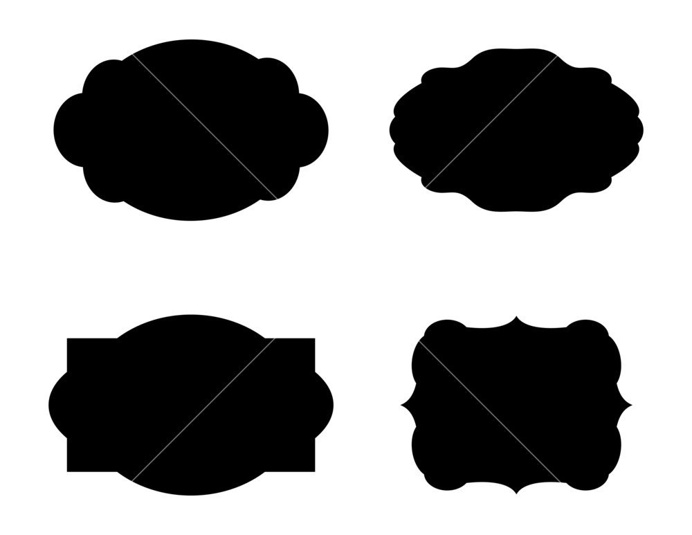 1000x773 Labels Shapes Vector Designs Royalty Free Stock Image