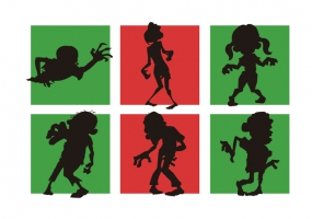 285x200 Zombie Shapes Free Vector Graphic Art Free Download (Found 16,668