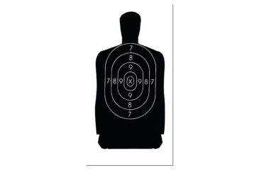 picture relating to Nra B-8 Target Printable identified as Free of charge Silhouette Goals at  Cost-free for