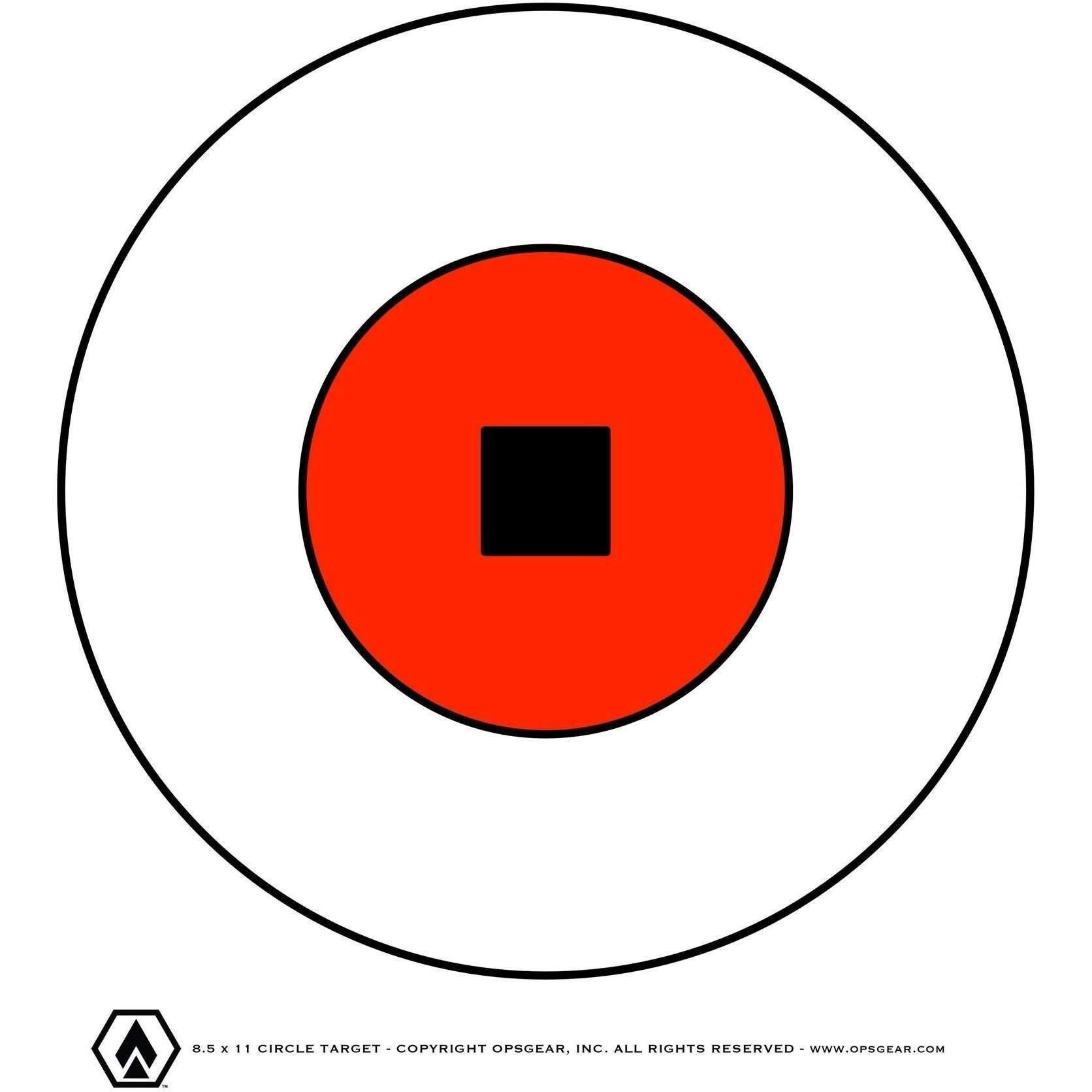 1672x1672 Free Bullseye Target (Pdf File)