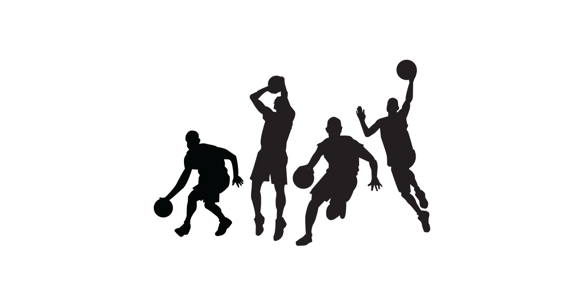 1200x628 Basketball Players Silhouettes Free Vector And Png The Graphic