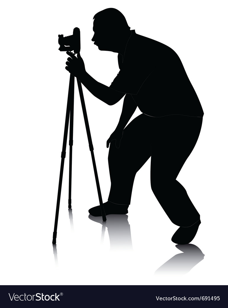 800x1080 Photographer Silhouette Vector Free