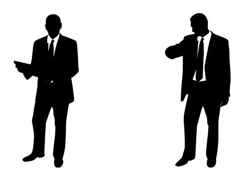500x350 Professional And Handsome Businessman Silhouette Vector Free