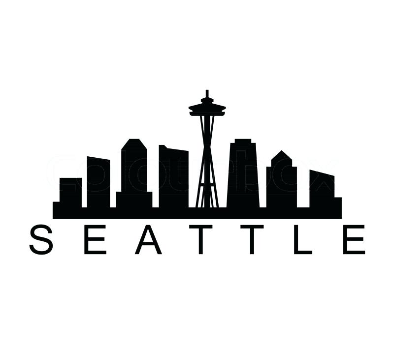 800x700 Seattle Skyline Silhouette Seattle Skyline Silhouette Vector Free