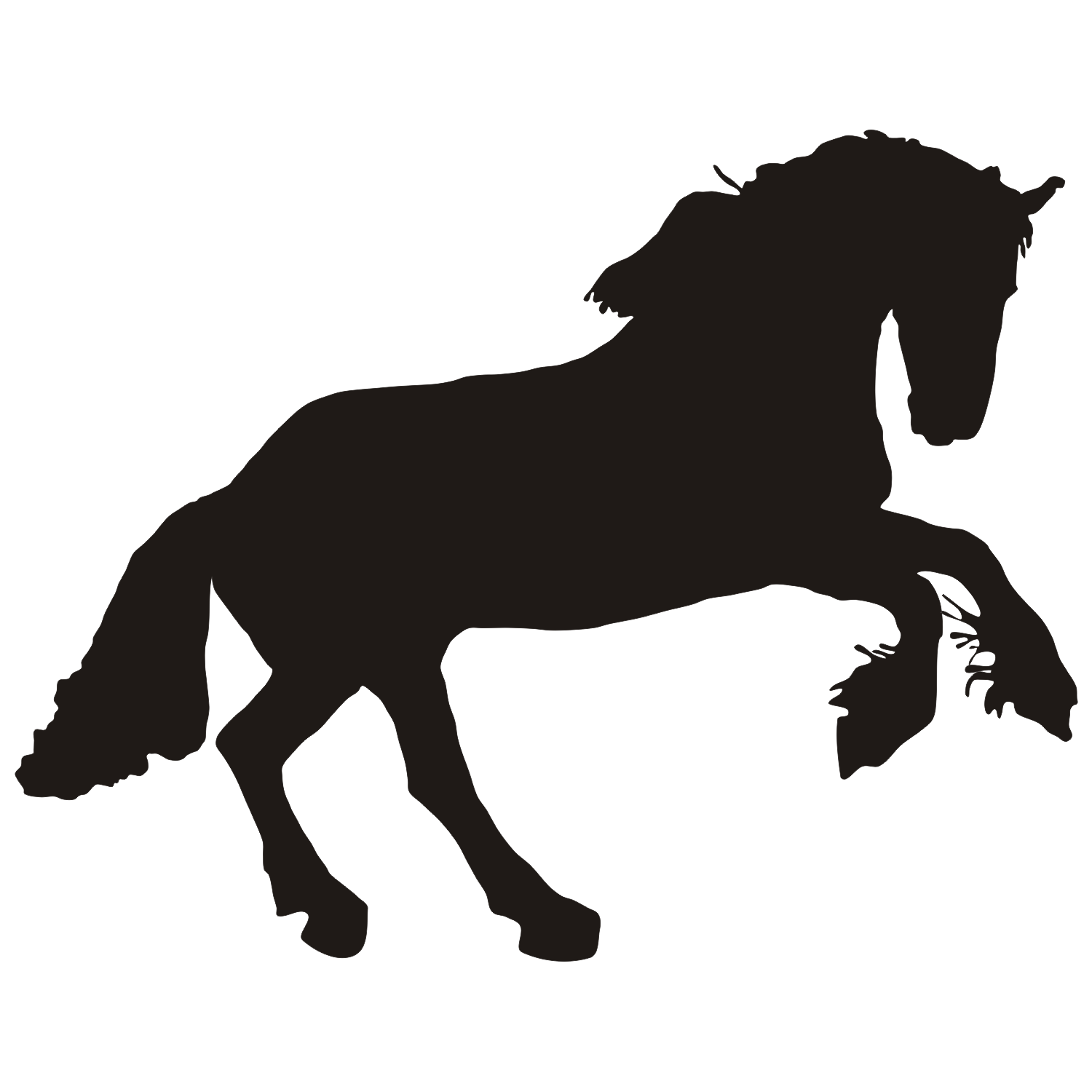 1500x1500 Vector For Free Use Black Horse Vector