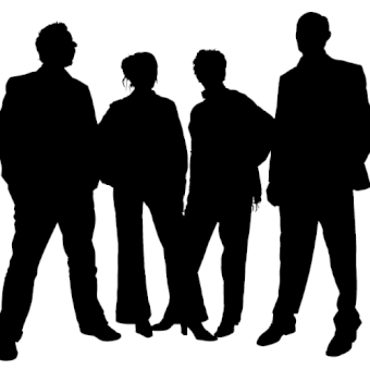 340x340 Business People Silhouettes World Map Free Vector 123freevectors