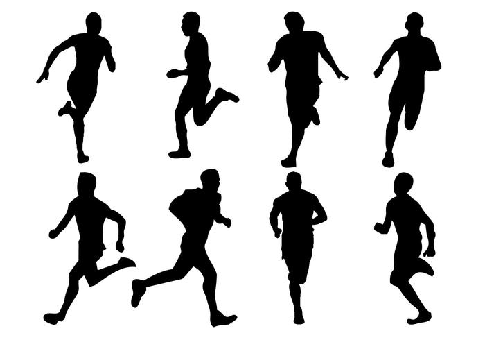 700x490 Free Running Silhouette Vector