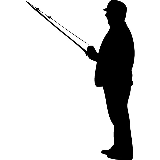 660x660 Fisherman Silhouette Vector Free Vectors Ui Download