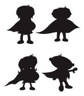 165x190 Superhero Character Silhouettes Superhero Classroom