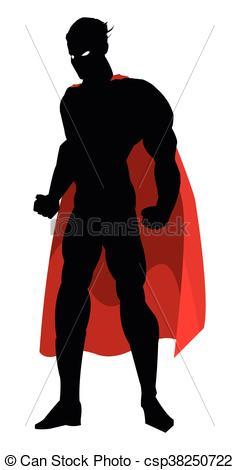 239x470 Superheroe Posing Silhouette. Simple Flat Design Superhero