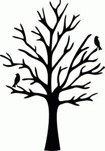209x300 Free Tree Stencils Black Tree Clip Art