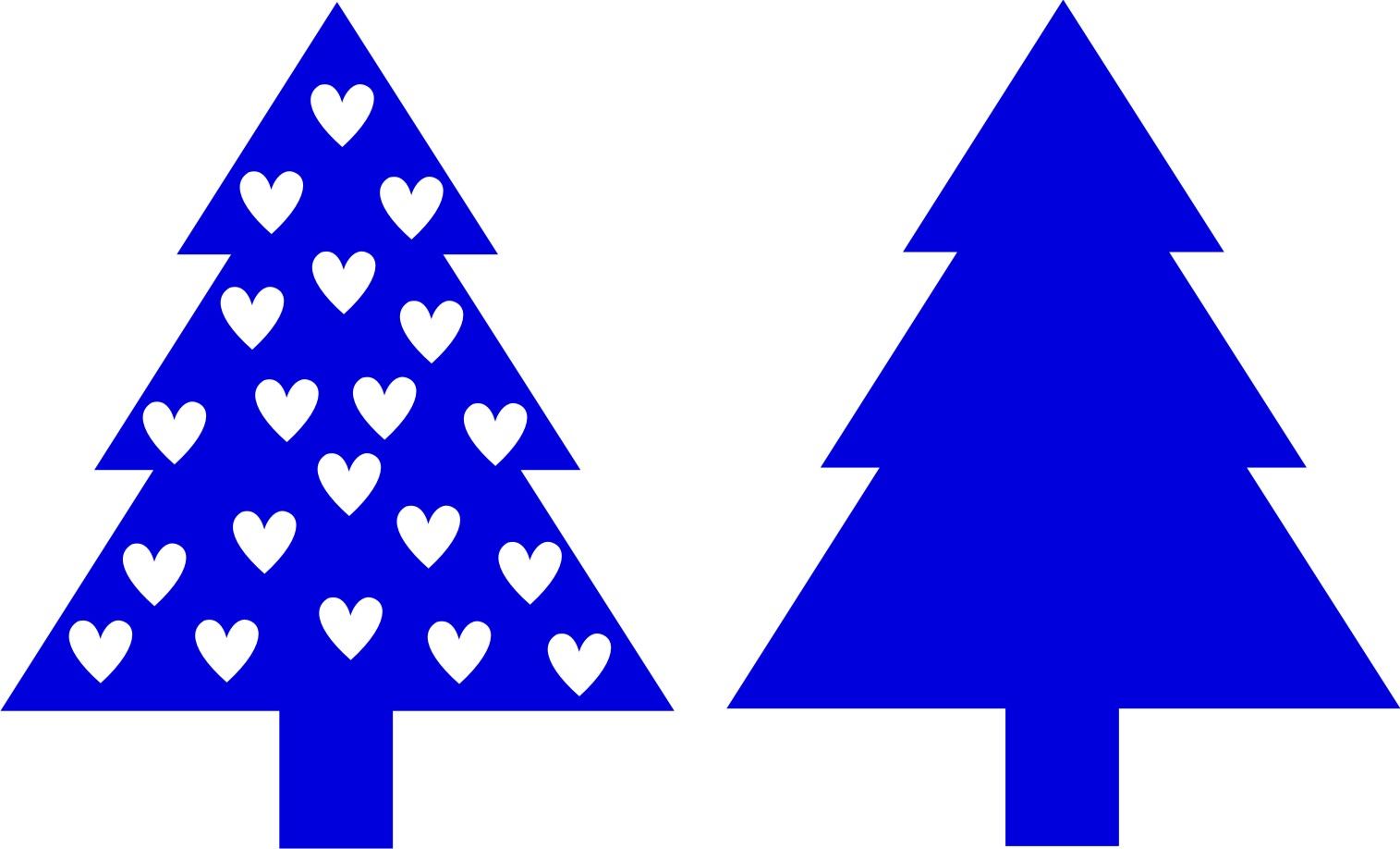 1515x918 Free Xmas Tree Silhouette, Hanslodge Clip Art Collection