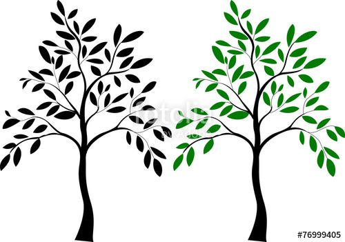 500x351 Illustration Of Tree Silhouette Stock Image And Royalty Free