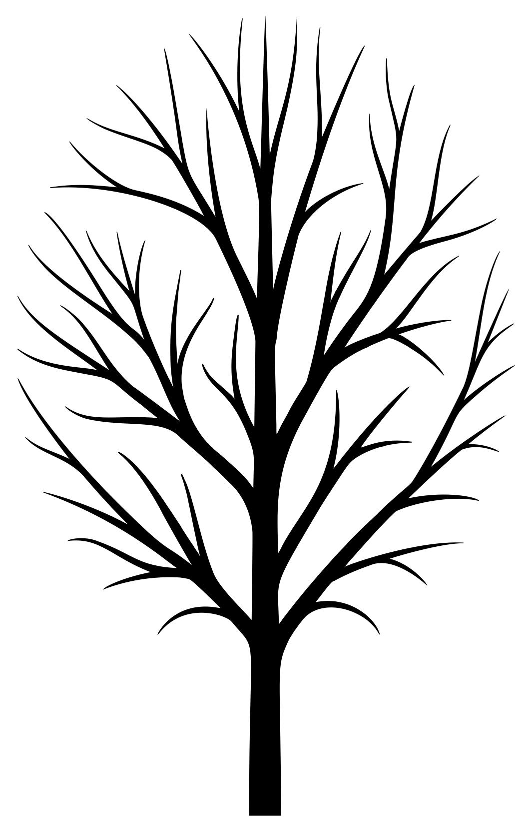 1065x1661 Skinny Tree Silhouette Clipart