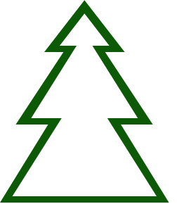 252x290 Green Christmas Tree Silhouette Clipart