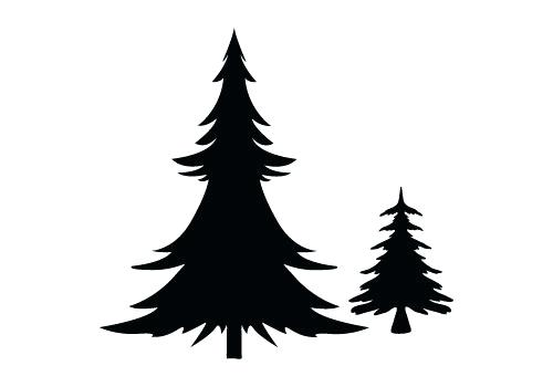 500x350 Christmas Tree Outline Images Kids Coloring Tree Silhouette Free