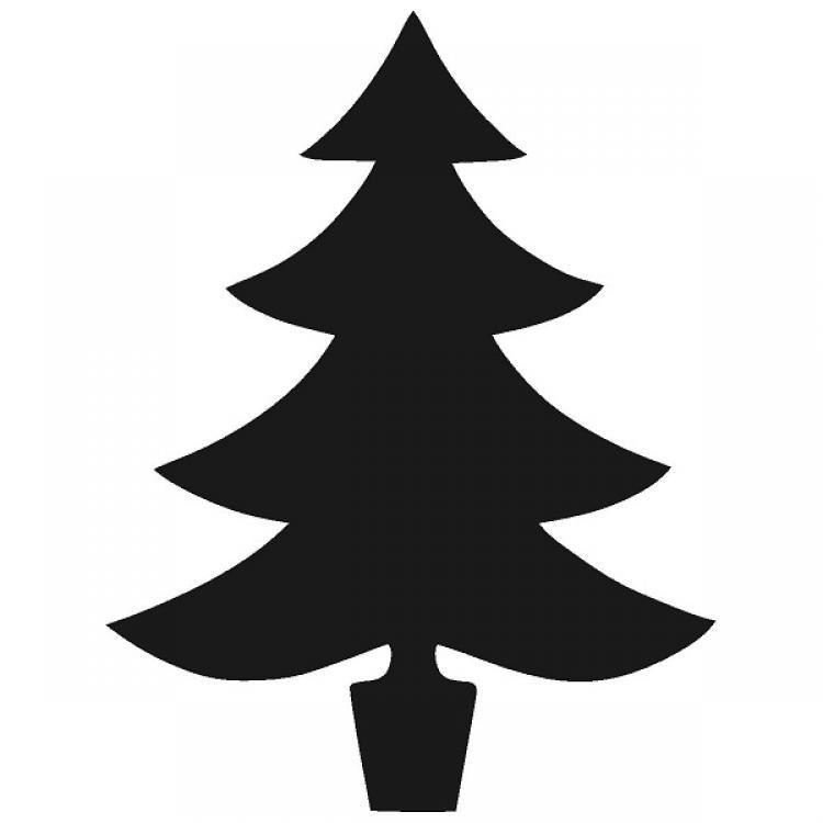 750x750 Christmas Tree Silhouette Clip Art Simple Living Tree In