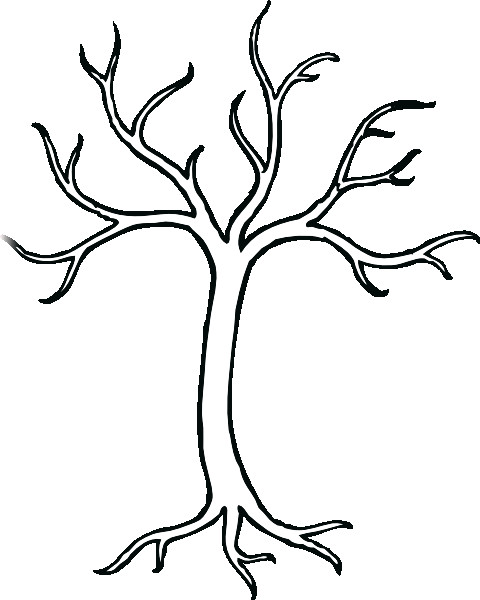 480x600 Leafless Tree Silhouette To Paint In The Bathroom And Put Hooks