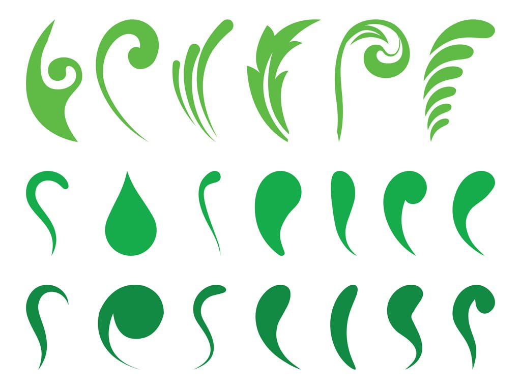 1024x765 Abstract Leaves Set Vector Art Amp Graphics