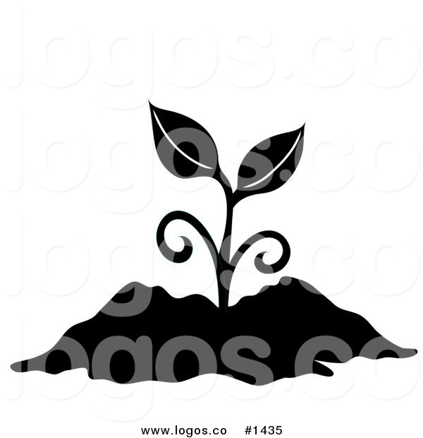600x620 Royalty Free Vector Logo Icon Of A Black Silhouetted Plant