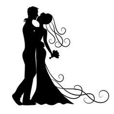 236x236 Free Wedding Silhouettes Bride And Groom Clip Art Images Bride