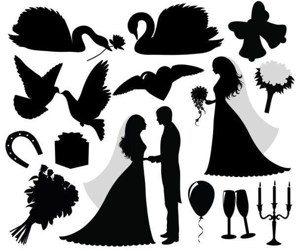 Free Wedding Silhouette Clip Art