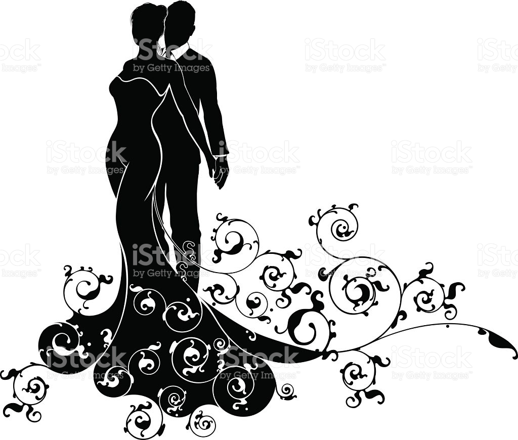 1024x870 Wedding Silhouette Clip Art