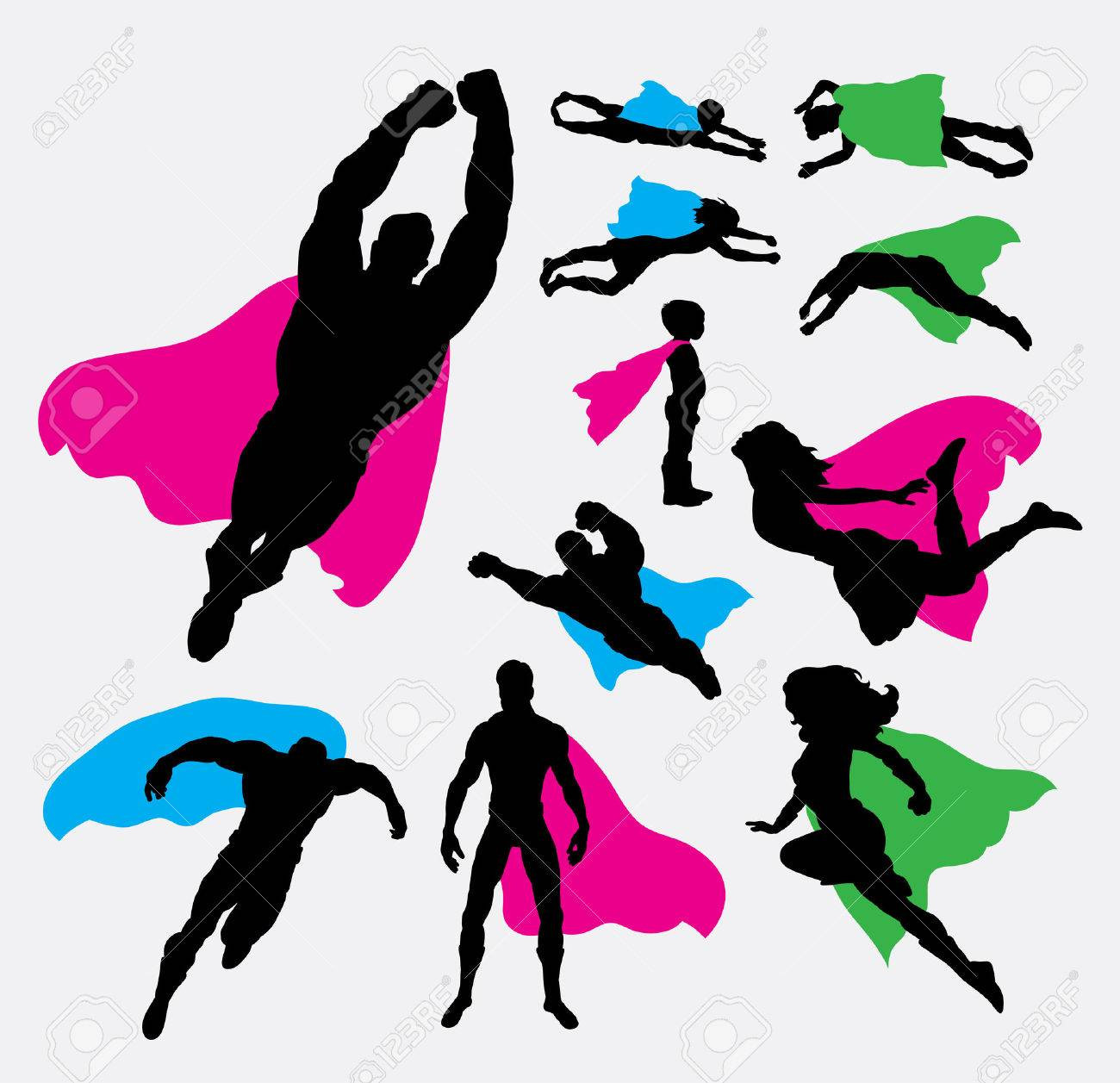 1300x1257 Superhero Woman Silhouette Royalty Free Vector Image Outstanding