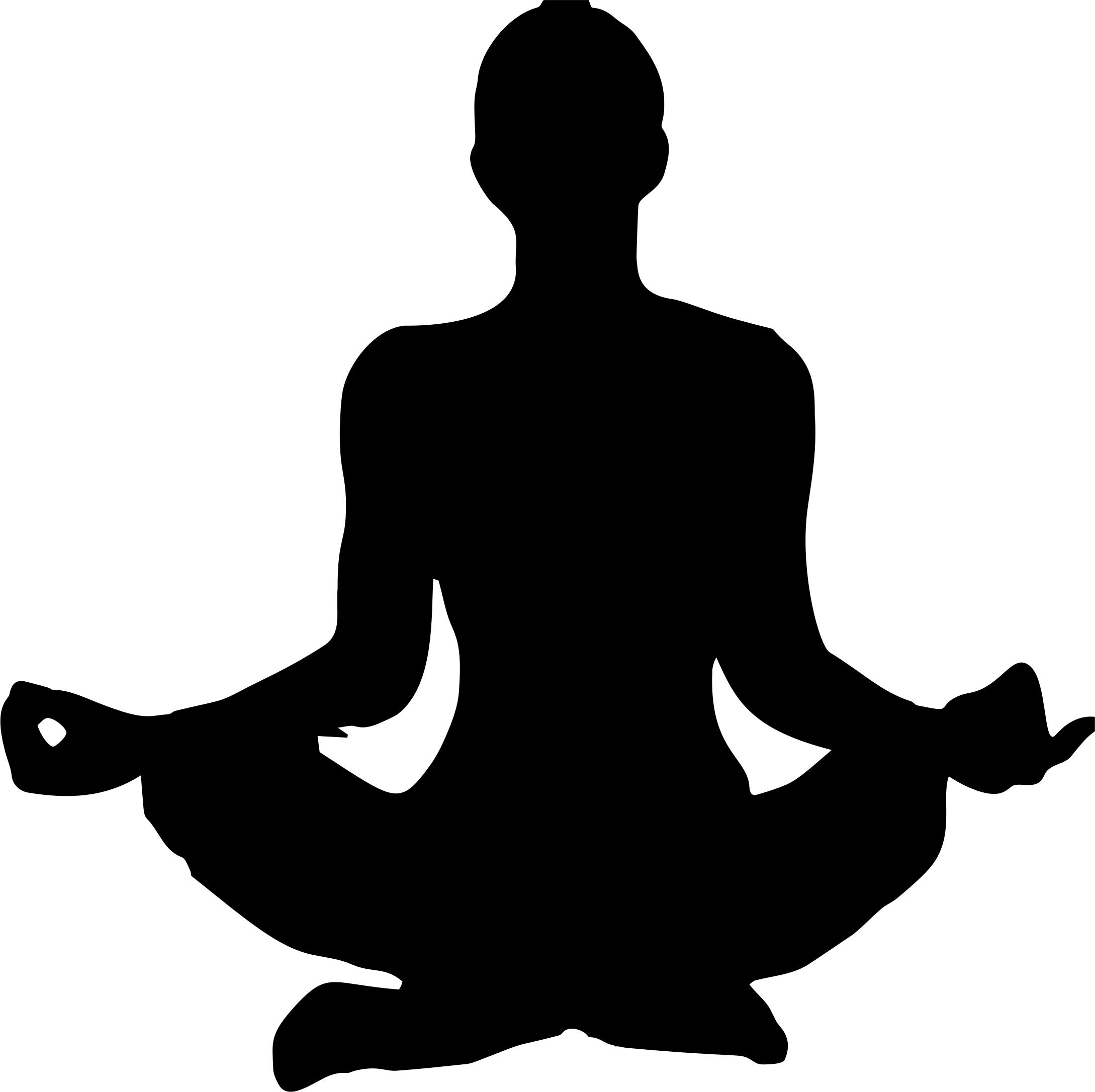 2178x2172 Female Yoga Pose Silhouette 13 Icons PNG