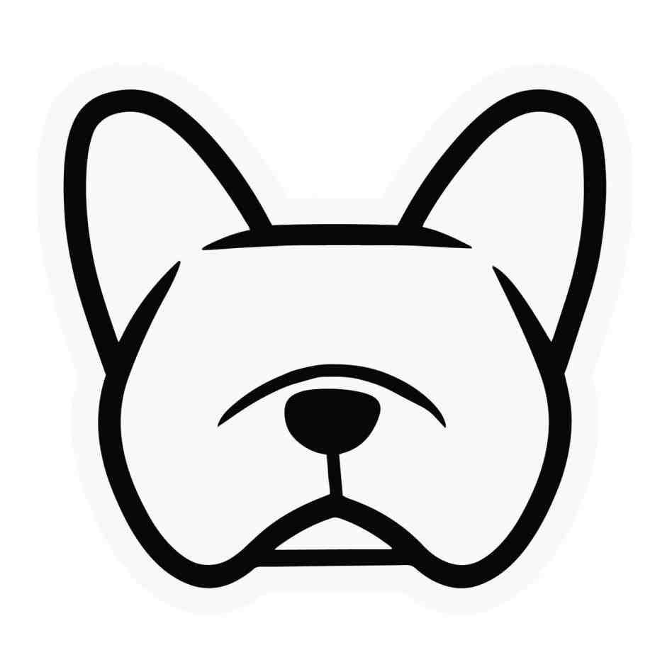 948x948 French Bulldog Stencil Animalsee.club