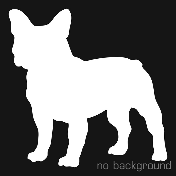 600x600 French Bulldog Silhouette Decal Vinyl Sticker Sticker