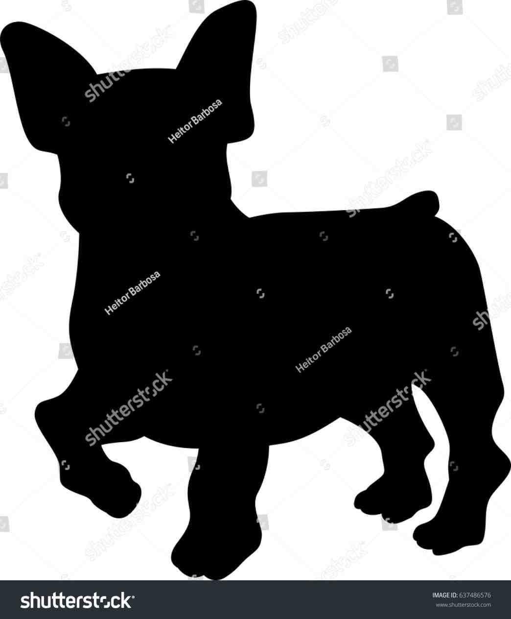 1044x1264 French Bulldog Shepherd Vector Image Silhouette Stock Shutterstock