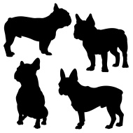 190x190 Bulldog Silhouetter Vector