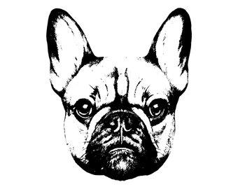 340x270 French Bulldog Logo Etsy