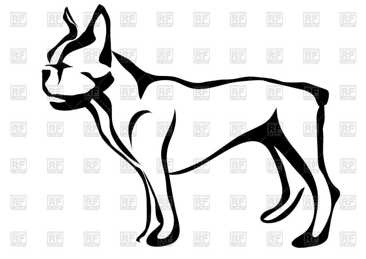 1200x849 French Bulldog Silhouette Royalty Free Vector Clip Art Image