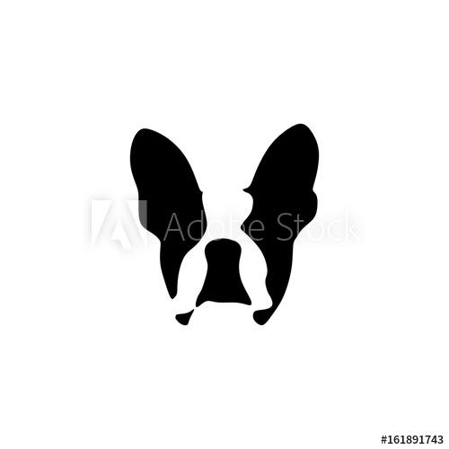 500x500 French Bulldog Vector Illustration