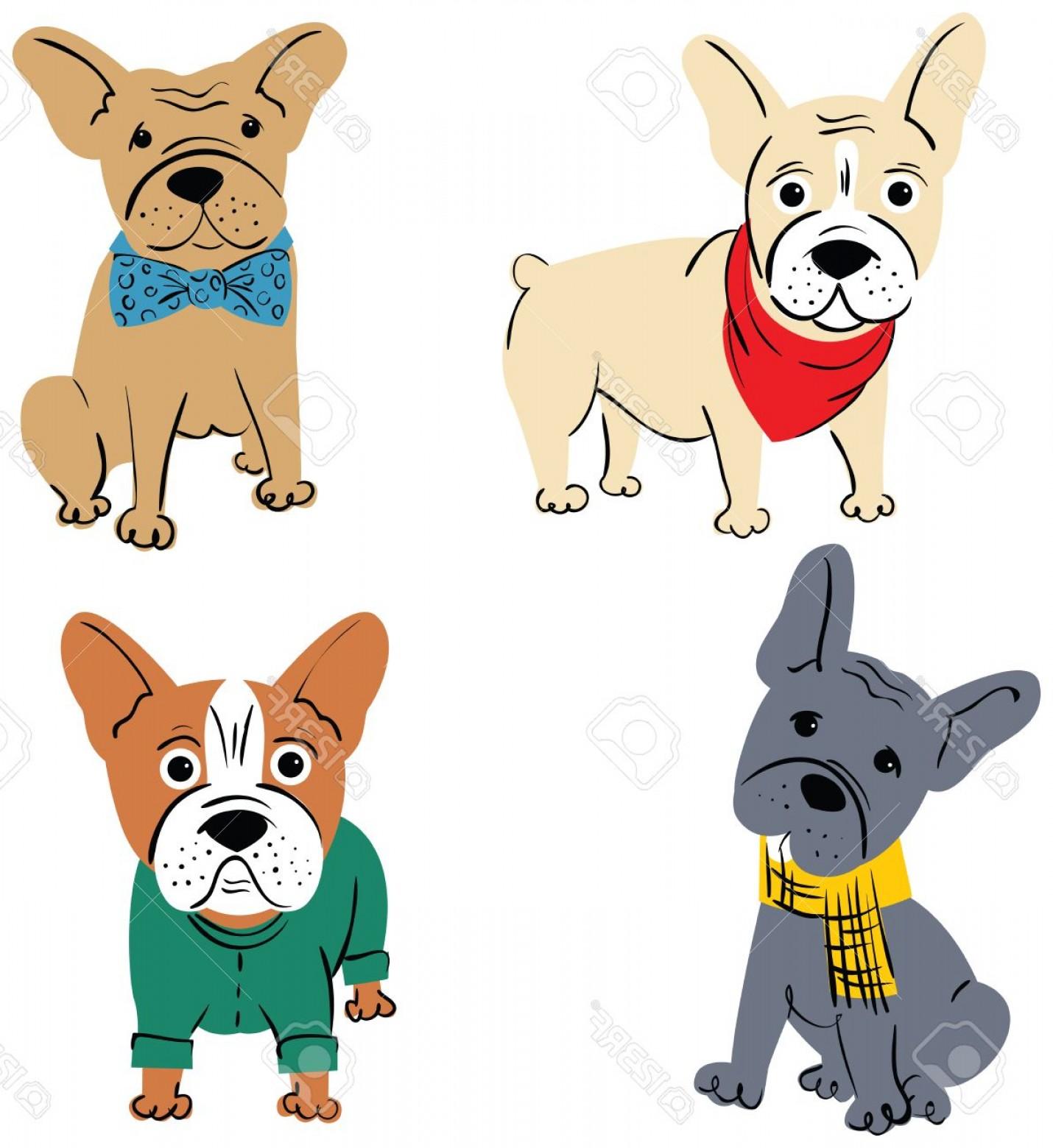 1430x1560 Photostock Vector Cartoon Vector Character French Bulldog Isolated