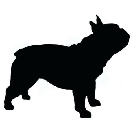 460x460 French Bulldog Silhouette