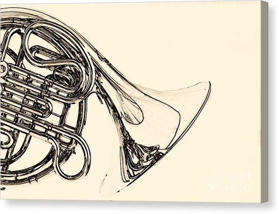 546x420 French Horn Canvas Prints