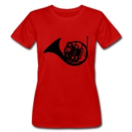190x190 French Horn Silhouette T Shirt Spreadshirt
