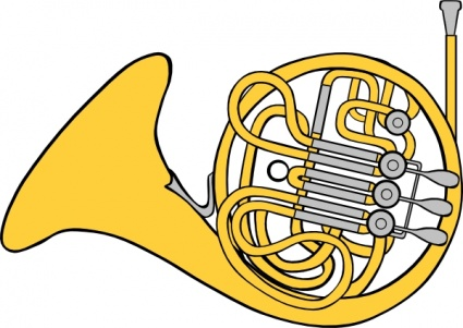 425x301 French Horn Clip Art Vector, Free Vector Graphics