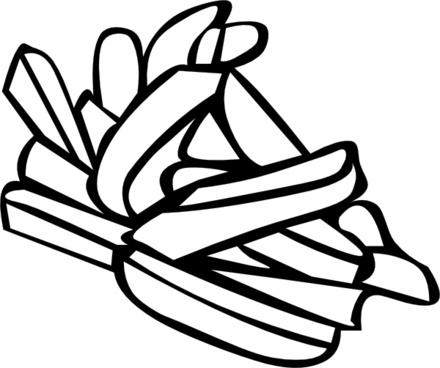 440x368 French Fries Silhouette Vector Art Free Free Vector Download