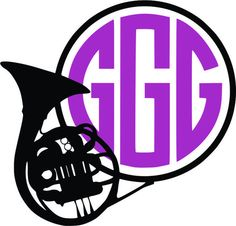 236x226 Music Band Horns Cuttable Svg Designs Monogram For Silhouette