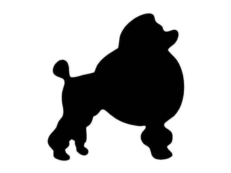 809x607 Poodle Silhouette For Poodle Skirt Animalsee.club