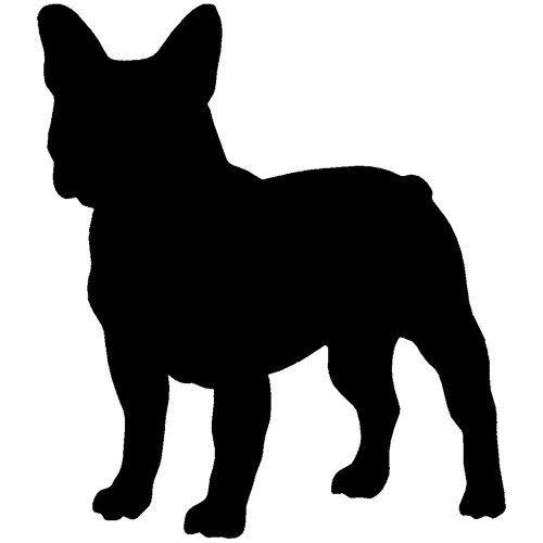 500x500 French Bulldog Decal Sticker (Black, 8 Inch) By Stickerslug, Http