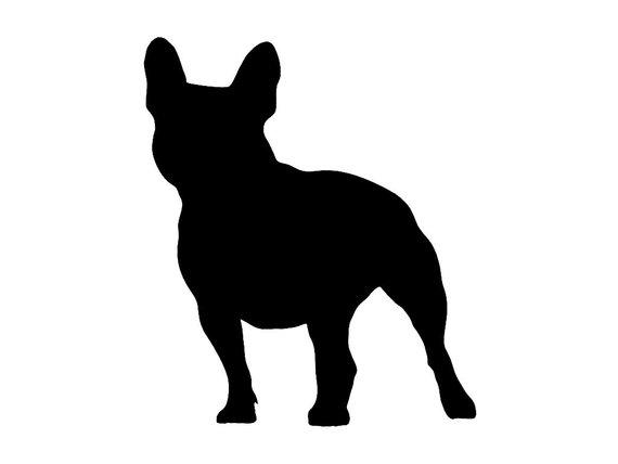 570x428 French Bulldog V2 Dog Breed Silhouette Custom Die Cut Vinyl