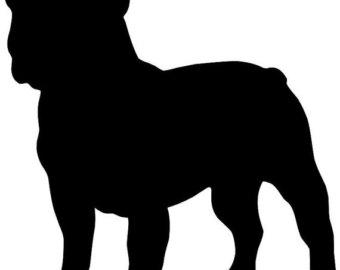340x270 Bulldog Clipart Silhouette